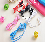 md-099 clásico de 3,5 mm para auriculares 1.0 de 100cm de oído para el iphone / samsung / Huawei / mijo / arroz rojo / htc (color
