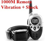 Dog Trainer 1000M Waterproof Rechargeable LCD Remote Pet Dog Training Collar Electric Shock Large Dog Control for 1 dog