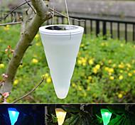 outdoor jardim suspenso cornet árvore cone energia solar luzes led iluminação da paisagem via escada