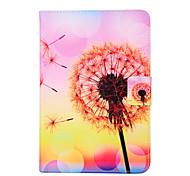 Fashion Design COCO FUN® Pink Yellow Dandelion Pattern PU Leather Flip Stand Case for Apple iPad mini 1/2/3