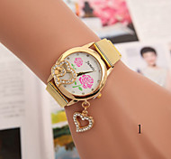 Women's Fashion Pendant Alloy Bracelet Watch Belt