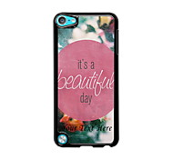 Personalized Phone Case - A Beautiful Day Design Metal Case for iPod Touch 5