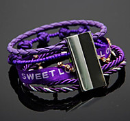 Exquisite Magnet Clasp Multilayer Pure Hand-made Woven Bracelets