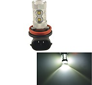 Carking™ H8/H11 60W 12SMD 2800ML 6000K White Light LED Fog Light Head Lamp Driving Bulb(DC 12V)