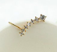 Ohrstecker Kristall Strass vergoldet Imitation Diamant 18K Gold Modisch Silber Golden Schmuck 2 Stück
