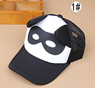 Boy's Fashion Adjustable Black and White Letters Ear Mesh Baseball Cap