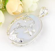 forward fuoco ovale pietra lunare gioiello in argento 925 albero di cocco pendenti di modo per collane per la festa nuziale 1pc quotidiano