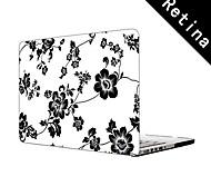 """elegante patrón de flores diseño de la caja protectora de cuerpo completo de 13 """"/ 15"""", MacBook Pro con pantalla de retina"""