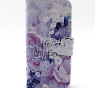 Beautiful Pattern PU Leather Case with Card Slot and Stand for Samsung Galaxy S4 mini/S3mini/S5mini/S3/S4/S5/S6/S6edge