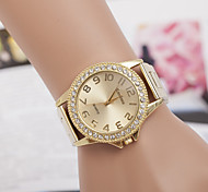 Ladies' Round Dial Case Alloy Watch Brand Fashion Quartz Watch