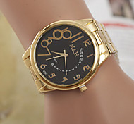 Couple's Round Dial Case Leather Watch Brand Fashion Quartz Watch Sport Watch