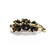 Women Banana Hair Clip Accessories Butterfly Black Resin Chic 108x31mm