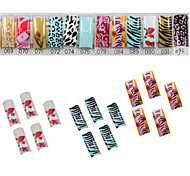 70 Pcs Half-cover French Acrylic Nails Tips 12 Colors Available
