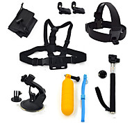 ourspop gp-k18 kit pour GoPro Hero 4 3 + / 3/2/1 caméra 8-en-1 accessoires