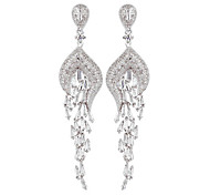 European Style Fashion Elegant Peacock CZ Earrings