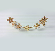 European Style Fashion New Flowers Without Pierced Ear Rhinestone Plum Ear Cuffs