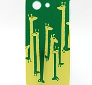 modello giraffa materiale TPU soft phone per sony z3 mini