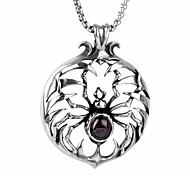 European Style Spider Shape Titanium Steel Wholesales Hot Sales Pendant For Mens(Red,Black)(1Pc)