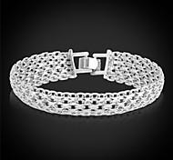 u7® ouro pulseira de platina / banhado a ouro 18K ouro real fantasia padrão cadeia robusto bijuterias pulseira