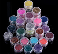 45Pcs 45Colors Mixed Color Super Bright Glitter Powder Glitter Nail Art Decoration