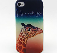 I'll Meet  You  Pattern TPU Phone Case for iPhone 4/4S