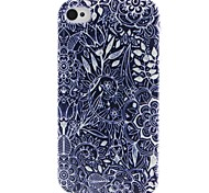 Flower Pattern TPU Material Soft Phone Case for iPhone 4/4S
