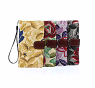 5.2 Inch Embroidery Pattern Canvas Wallet Leather Case with Stand for Sony Z4(Assorted Colors)