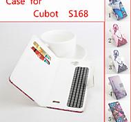 cuir bascule étui de protection magnétique pour cubot S168 (couleurs assorties)