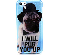 Puppy Pattern Glitter TPU Cell Phone Soft Shell For iPhone 5C