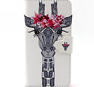 Giraffe Pattern PU Leather Phone Case For G355/G357/G360/G386F/G850F/G3500/G5308