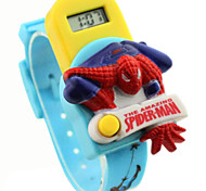 Children's Round Dial Spider man pattern Rubber Band Electron Watch