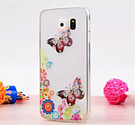 For Samsung Galaxy Case Rhinestone / Transparent Case Back Cover Case 3D Cartoon TPU Samsung S6