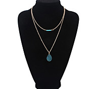 European Style Fashion Imitation Spar Droplets Necklace