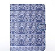 olifanten patroon pu lederen full body case met standaard voor Samsung Galaxy Tab 10.1 4 T530