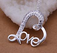 Colgantes Brillante Heart Shape plata 1