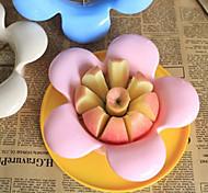 Stainless Steel Flower Shaped Apple Slicer Fruit Cutter Divider (Random Color)