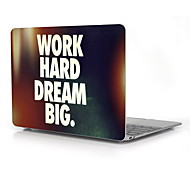 "Work Hard and Dream Big Design Full-Body Protective Plastic Case for 12"" Inch The New Macbook with Retina Display"