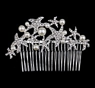 Palace Hairpins Starfish Comb for Women Rhinestone Crystals Wedding Hair Accessories Party Wedding Bridal Jewelry