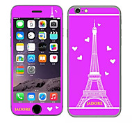 The Tower with Hearts Pattern Front and Rear Toughened Cartoon Membrane for iPhone 6S/6(Assorted Colors)