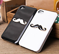 Fashionable Beard Pattern Hard Back Case for iPhone4/4S(Assorted Color)