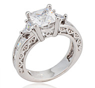 Size 6/7/8/9/10 High Quality Women White  Sapphire Rings 10KT White Gold Filled Ring