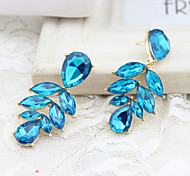 """New Arrival Hot Selling High Quality Crystal Leaf Earrings"""