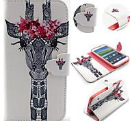 Giraffe Pattern with Card Bag Full Body Case for Samsung Galaxy S3/S4 Mini/ S5