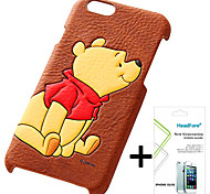 Disney Winnie the Pooh Cover Case for Iphone5S/5G Free with Headfore Screen Protector for Iphone 5S/5G