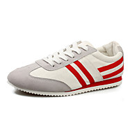 Men's Shoes Outdoor/Casual Canvas Fashion Sneakers Black/Red/Orange