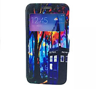 Cabin  Pattern PU lLeather Phone Case For Galaxy A3 /A5 /A7