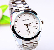 Men's Business Round Dial PC Movement Steel Strap Fashion Life Waterproof Quartz Watch