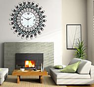 diamante ferro relógio de parede design moderno