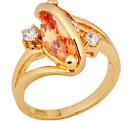 Size 8 High Quality Women Orange Sapphire Rings 10KT Yellow Gold Filled Ring