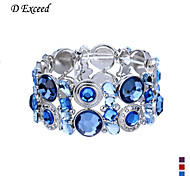 D Exceed Women's Exquisite and European Style Hollw Out Alloy Wide Stretch Bracelet(More Colors)